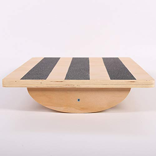 lxfy Balance Board Fitnessgeräte aus Holz Balance Training, Wobble Balance Board, Übung Balance Stabilität Trainer für Physiotherapie, Stehpult