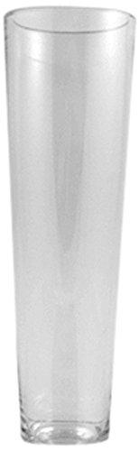 WGV klar Verjüngung bis Block Glas Vase, quadratisch, 9Zoll