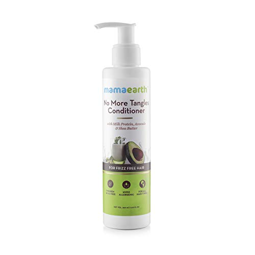 Mamaearth No More Tangles Hair Conditioner 200ml with Milk Protein, Fenugreek, Amla and Tea Tree. No Sulfates, No Silicones