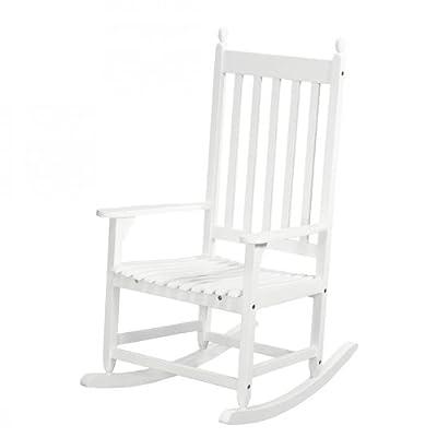 Schaukelstuhl Gartenstuhl Akazienholz Weiß lackiert Garten Terrasse Stuhl NEU von Home24