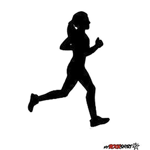 Laufen Läuferin 15 cm Joggen Aufkleber für Scheibe, Lack, Hochleistungsfolie, UV& Waschanlagenfest`+ Bonus Testaufkleber