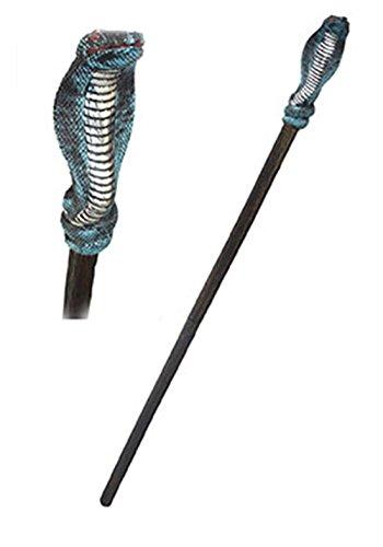 Halloweenia - Schlangenzepter Pharao Zauberer Kostüm- Antike Orient Mystic Stab Zepter, 138cm, Mehrfarbig