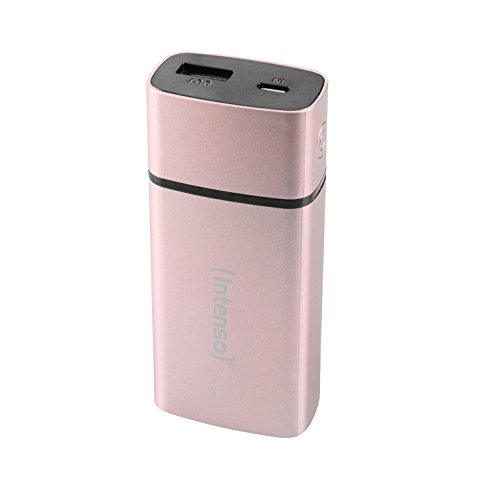 Intenso Powerbank PM5200 externes Ladegerät (für Smartphone/Tablet PC/MP3 Player/Digitalkamera (5200mAh) metal finish) rosé