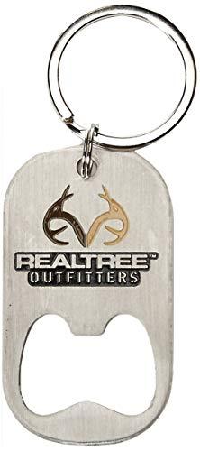 Realtree Flaschenöffner Schlüsselanhänger Jagd und Schießausrüstung, Silber, 1 Stück -