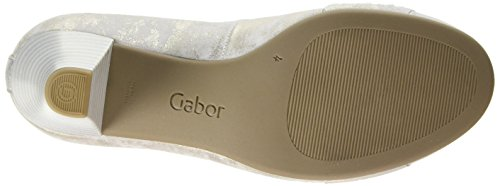 Gabor  Wallace,  Damen Pumps , Beige - Beige (Beige Metallic Leather), Gr. 39 EU (6 UK) -