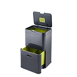 Joseph Joseph Intelligent Waste Totem Waste Separation and Recycling Unit, 48 L - Graphite