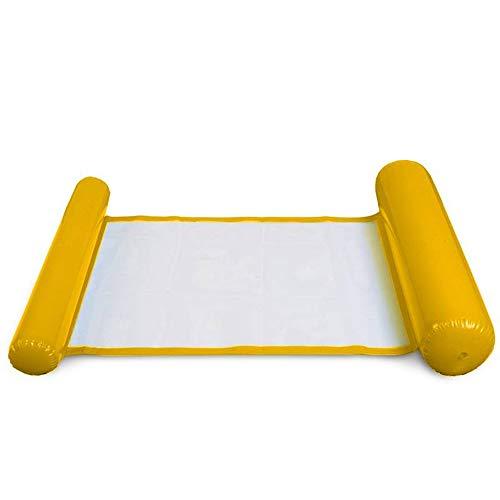 OOFAY Wasser Hängematte Wasser Liegestuhl Schwimmende Bett Pool Sofa Aufblasbare Faltbare PVC Schwimmring,Orange
