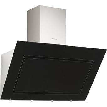 Silverline Pegasus Premium Monté au mur Noir, Acier inoxydable 900m³/h - hottes (900 m³/h, Conduit / Recirculation, 39 dB, 45 cm, 65 cm, Monté au mur)