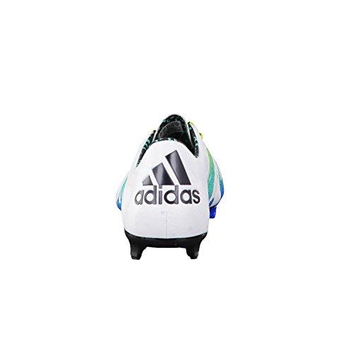 adidas Herren X 15.1 FG/AG Leather Fußballschuhe Blanco / Verde / Negro (Ftwbla / Seliso / Negbas)