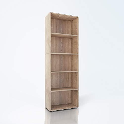 Ein Regal Bücherregal (Vicco Bücherregal Easy XXL Standegal Wandregal Aktenregal Schrank Büro (Sonoma Eiche))