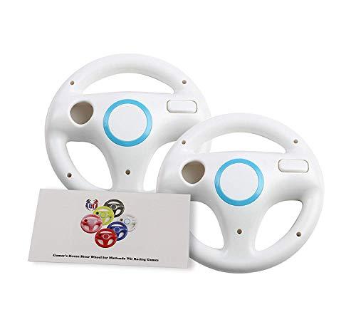 Wii U Wii Lenkrad Original Weiß für Rennspiele Mario Kart Racing Wheels weiß 2 Pack Original White