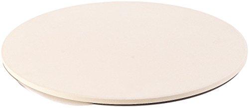 Cucina di Modena Backofen-Pizzastein: Runder Pizzastein mit Aluminium-Servierblech, Ø 33 cm (Pizzastein lebensmittelecht)