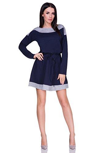 FUTURO FASHION - Robe - Colonne - Manches Longues - Femme bleu Ashen/Navy taille unique Ashen/Navy