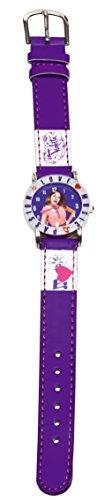 Disney Mädchen-Armbanduhr Violetta Analoguhr mit Lederarmband Analog Quarz Kunstleder 117014