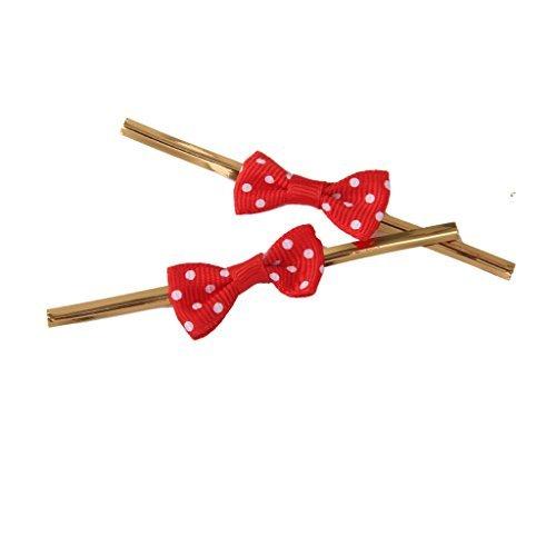 ca. 50Rose Schleife Geschenk Verpackung Metallic Twist Krawatten für Party Bakery Cookie Candy Taschen Rot