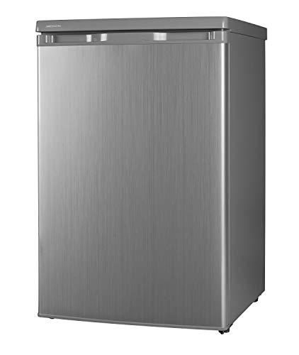 MEDION MD 13854 Kühlschrank (130 Liter, 85cm Höhe, unterbau-fähig, Glasablagen, 91 kWh/Jahr) silber