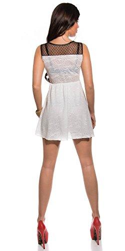 In-Stylefashion - Robe - Femme Orange Orange Medium Blanc - blanc