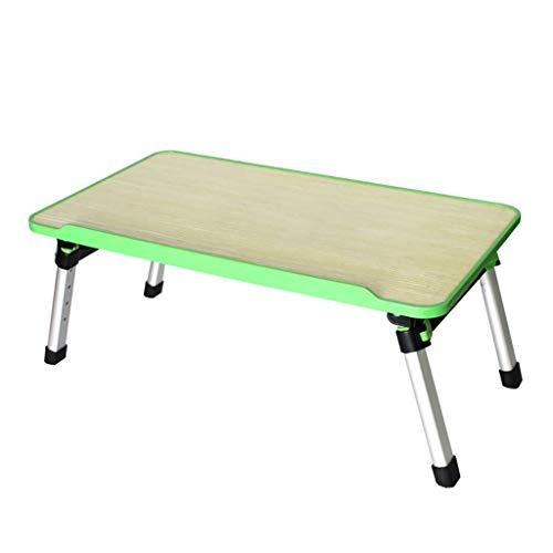 Laptop-Tischständer Klappbarer Computertisch, verstellbar, Faltbare Sofa-Frühstückstablett, Verstellbarer Laptop-Nachttisch (Farbe : Apple Green, größe : 30x52cm) (Apple-laptop Green)