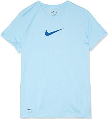 Preisvergleich Produktbild Nike Mädchen Sportswear T-Shirt AD Swoosh Sleeve Chill / Gym Blue,  L