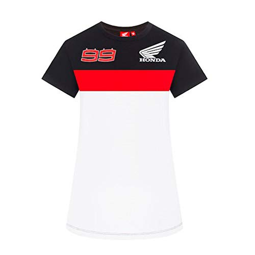 2019 Jorge Lorenzo t-Shirt da Donna e Ragazza, Prodotto Ufficiale Honda MotoGP, Anthracite, Womens (S) 88cm/35 inch Chest