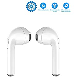 Auriculares Bluetooth inalámbricos Reales, Auriculares Bluetooth con Estuche de Carga, Auriculares Bluetooth estéreo inalámbricos Verdaderos, para teléfonos Inteligentes