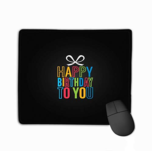Mouse Pad Birthday Gift Box Logo Design Happy Birthday to You Background Birthday Gift Box Logo Design Happy Birthday to You eps Rectangle Rubber Mousepad 11.81 X 9.84 Inch