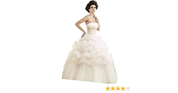 WT07 IVORY wedding reception bride evening dresses party full length prom gown ball (12, IVORY (OFF WHITE)): Amazon.co.uk: Clothing