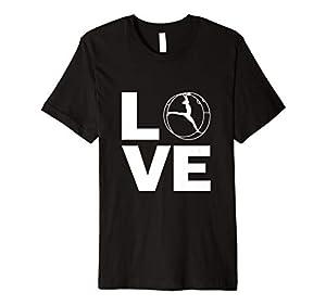 Rhönrad Turnen T-Shirt | Mit Liebe für alle Turner/Akrobaten