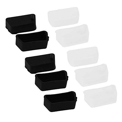 Preisvergleich Produktbild Fastone Staubschutz PC-Video-Grafikkarten-Port Anti-Staubschutz VGA-Buchse Port Staubschutz Schwarz und Weiß 10 Stück