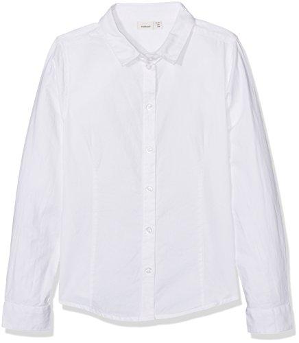 NAME IT Jungen Hemd Nitsahro LS Shirt F Nmt Weiß (Bright White), 122 (Herstellergröße: 122-128)