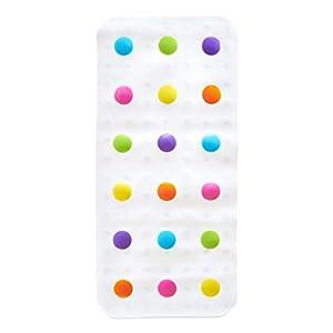 Munchkin Dandy Dots Children's Non Slip Safety Bath Mat, Multi Colour, 77.5 x 36 cm
