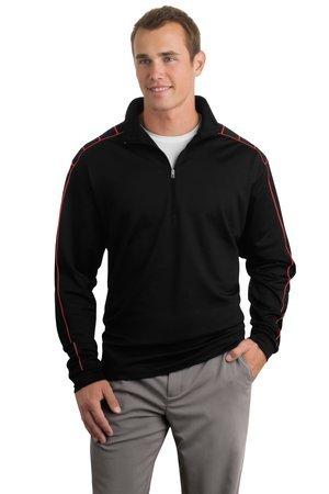 Herren Nike Golf Dri-Fit 1/2Zip Cover-Up Xxx-large Mehrfarbig - Black/Varsity Red (Golf Cover Nike Up)