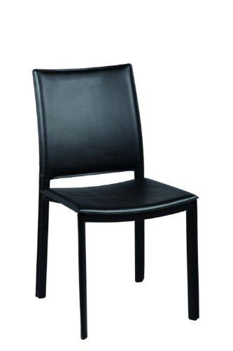 PEGANE Chaise noir en PVC, Dim L.480 xl.580 x Ht.885 x Ht Ass. 450mm