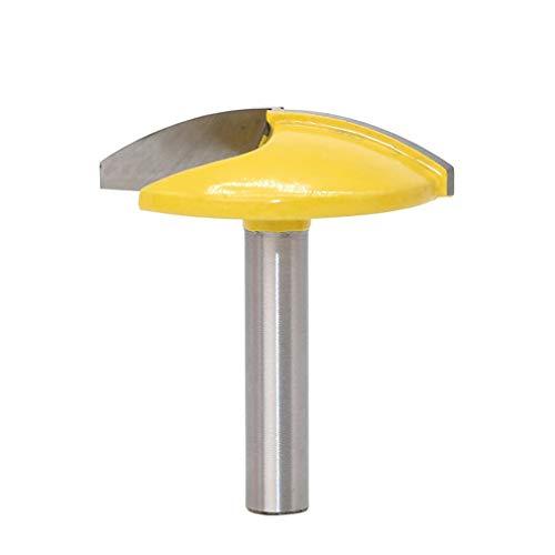 DERNON 8 MM Schaft Kleine Schüssel Fräser Holzbearbeitung Fräser Breite Tür Messer gelb & Silber -