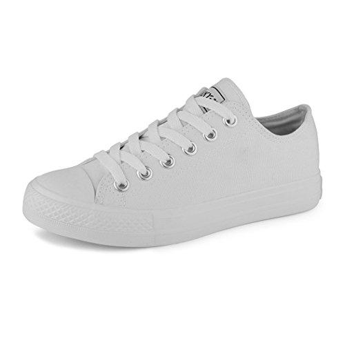 best-boots Damen Turnschuh Sneaker Slipper Halbschuhe sportlich All White