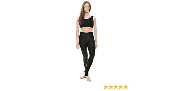 UK Supplier Katz KDT001 Black Shiny Lycra Stirrup Dance Gym Leggings