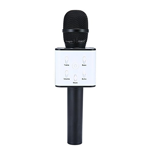 XPY&DGX Portable Wireless Handheld Microphone,Wireless Karaoke Microphone KTV Karaoke Stereo Player Bluetooth,AUX Compatible with PC/iPad/iPhone/Smartphone,Home Outdoor Party Playing Singing Anytime