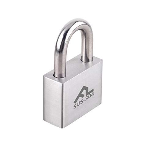 Lucchetto dell'acciaio inossidabile 304, serratura antifurto del cassetto della porta del magazzino, serratura anti-smash impermeabile esterna resistente alla ruggine ( color : silver , size : 50mm )