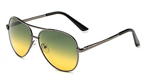 MK 11 Flieger NACHT FAHREN GLÄSER Polarisiert ANTI GLARE COMPUTER-GLÄSER HD-Brille Geeignet für verbesserte Nachtsicht. Blendschutz Nachtsicht