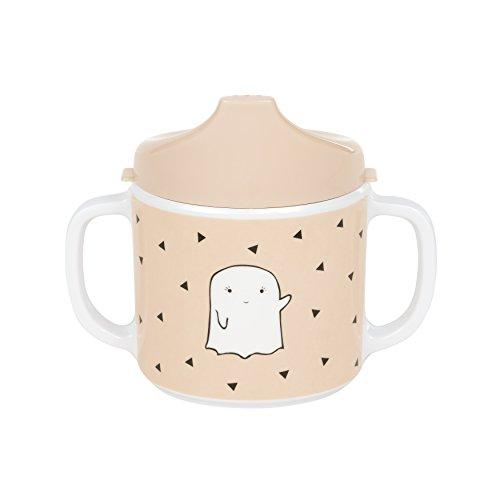 LÄSSIG Tasse Trinklernbecher Schnabeltasse Kinder Baby Kleinkind mit Henkeln rutschfest spülmaschinengeeignet Melamin/Cup Little Spookies