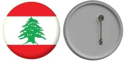 Button / badge drapeau Liban - 58mm