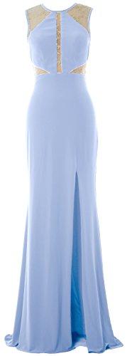 MACloth - Robe - Ajourée - Sans Manche - Femme bleu ciel