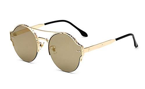 Sonnenbrille, Vintage Frauen Männer Metall Rund Die Hälfte Frauen Cat Eye Frame Sonnenbrillen Sonnenbrillen Sonnenbrillen Für Damen Sonnenbrillen Gold Grün