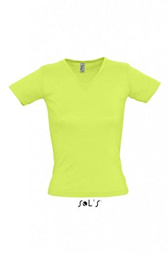 SOLS Lady 220 Ladies V-Neck 11835 Apple Green