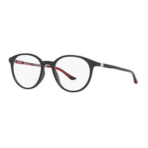 STARCK Eyes Vista Herren-Brille Sh3057 0001 schwarz matt runde Rundstäbe rot warm 49