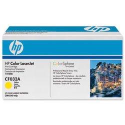 Hp Ergiebigkeit (Nagelneu. Hewlett Packard [HP] CM4540Laser Toner Cartridge Seite Ergiebigkeit 12500pp gelb Ref CF032A)