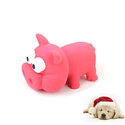 Hilai 1pc kauen Spielzeug Haustier molaren Zahnreinigung Latex Spielzeug Spielzeug für Dogs(Pig)