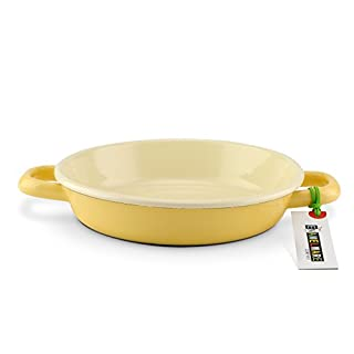 Egg pan ~ 20/18 ~ Premium Emaille ~ Butter yellow ~ Handmade in Austria