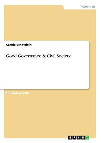 Good Governance & Civil Society