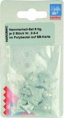 Hammerkeil-Set 6tlg. je 2St. Nr.2-3-4